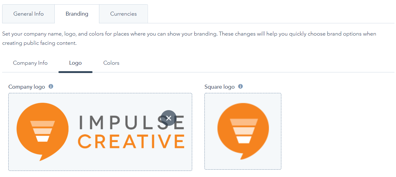Branding Screenshot