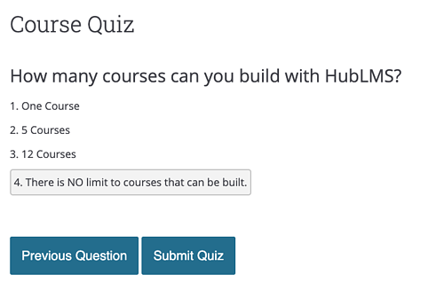 Build out a Custom Quiz for your Course